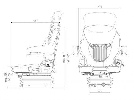 Grammer Compacto Basic M mechanisch geveerde stoel