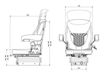 Grammer Compacto Basic S mechanisch geveerde stoel