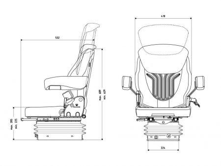 Grammer Compacto Comfort S luchtgeveerde stoel
