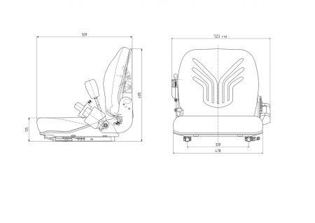 Grammer B12 mechanisch geveerde stoel