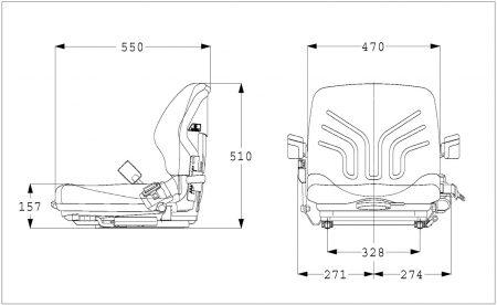 Grammer MSG 20 mechanisch geveerde stoel