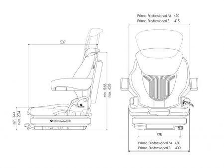 Grammer Primo Professional S luchtgeveerde stoel