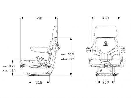 Grammer Universo Basic mechanisch geveerde stoel