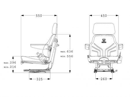 Grammer Universo Basic Plus mechanisch geveerde stoel