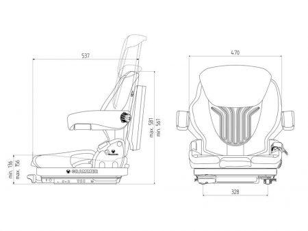 Grammer Primo XM mechanisch geveerde stoel