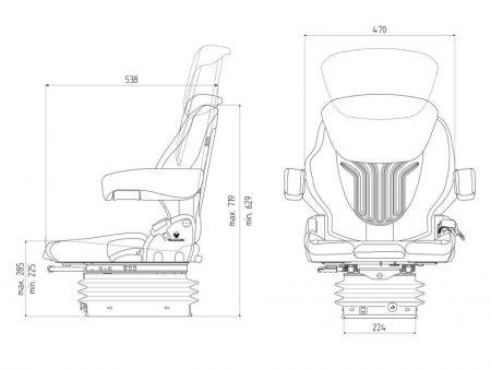 Grammer Compacto Comfort M luchtgeveerde stoel