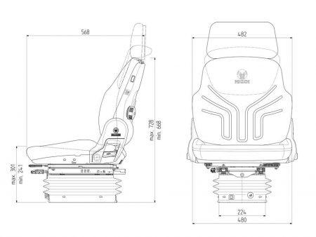 Grammer Compacto Comfort W luchtgeveerde stoel