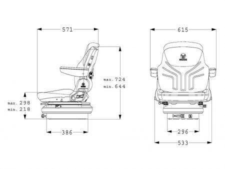 Grammer Maximo Basic M mechanisch geveerde stoel