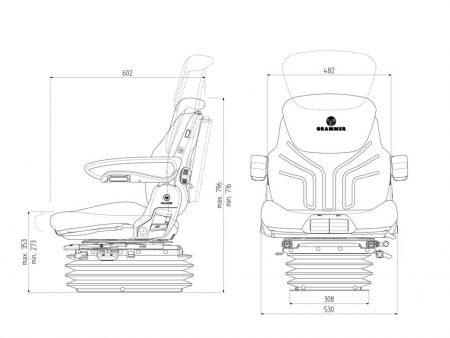 Grammer Maximo Comfort Plus luchtgeveerde stoel