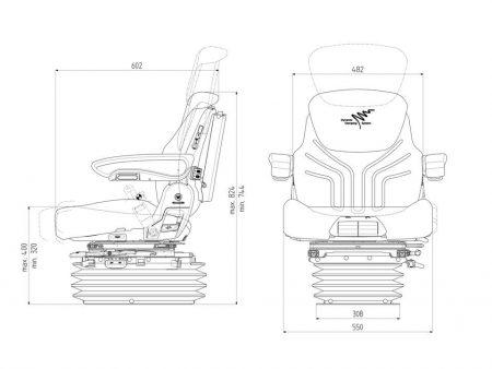Grammer Maximo Dynamic luchtgeveerde stoel