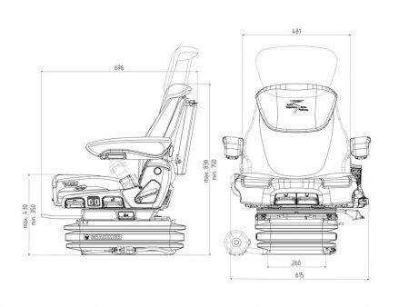 Grammer Maximo Evolution Active luchtgeveerde stoel