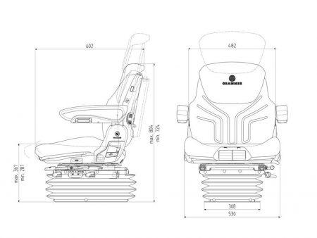 Grammer Maximo Professional luchtgeveerde stoel