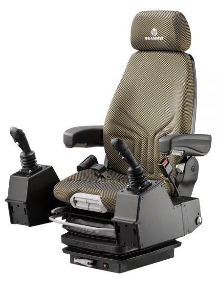 Grammer Actimo M mechanisch geveerde stoel (pods) voor bouwmachine
