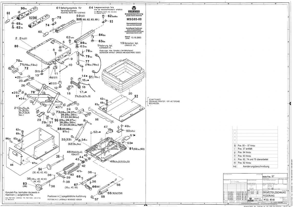 MSG85 veersysteem voor Maximo Basic met horizontaalvering