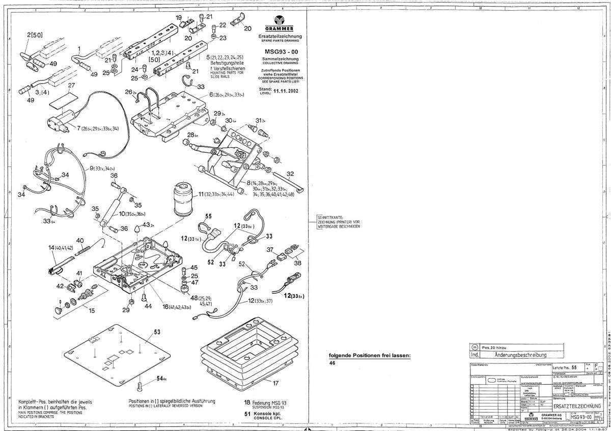 MSG93 luchtgeveerd onderstel voor Compacto serie Comfort/S/M/W