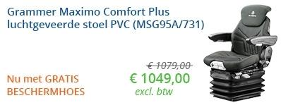 Grammer Maximo Comfort Plus luchtgeveerde stoel met GRATIS BESCHERMHOES