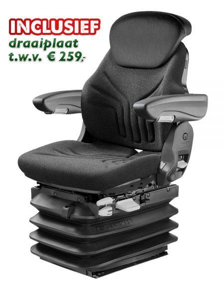 Grammer Maximo L/G Plus (MSG95G/721) trekkerstoel / tractorstoel met draaiplaat is een luchtgeveerde stoel voor tractor of bouwmachine