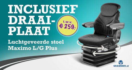 Grammer - De luchtgeveerde stoel Grammer Maximo L/G Plus met draaiplaat.