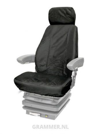 Grammer stoelhoes beschermhoes bouwmachinestoel voor Grammr Actimo zwart