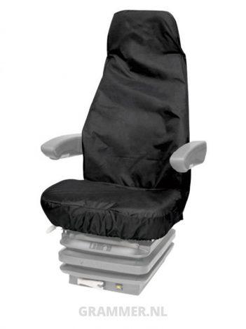 Grammer stoelhoes beschermhoes bouwmachinestoel universeel zwart