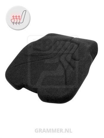 Grammer zitkussen 731 stof met verwarming zwart voor Maximo XM XXL Comfort Plus Professional Primo E Plus MSG75 MSG85 MSG95 MSG97