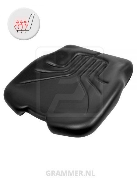 Grammer zitkussen 731 zwart pcv met verwarming voor Maximo XM XXL Comfort Plus Professional Primo EL Plus MSG75 MSG85 MSG95 MSG97
